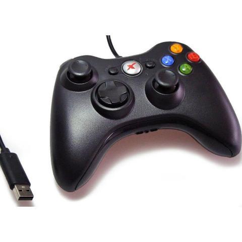 Imagem de Controle joystick 3D Para PC Ergonômico Com Fio PC/USB Vibra-Control Xtrad -  XD531