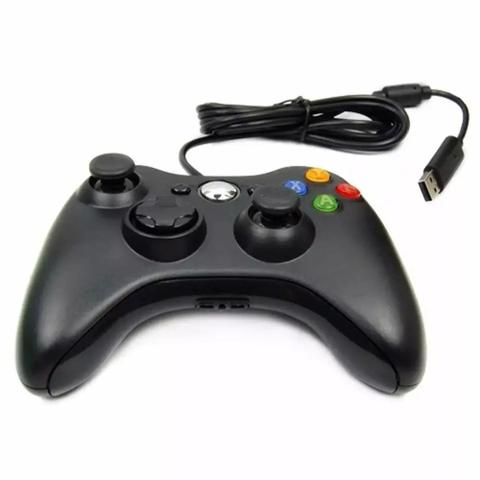 Imagem de Controle Joystick Com Fio Compativel Xbox 360 e Pc