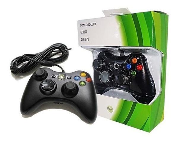 Imagem de Controle Joystick Compatível c/ Xbox 360 Slim One Pc Computador c/ Fio 2m USB 2.0