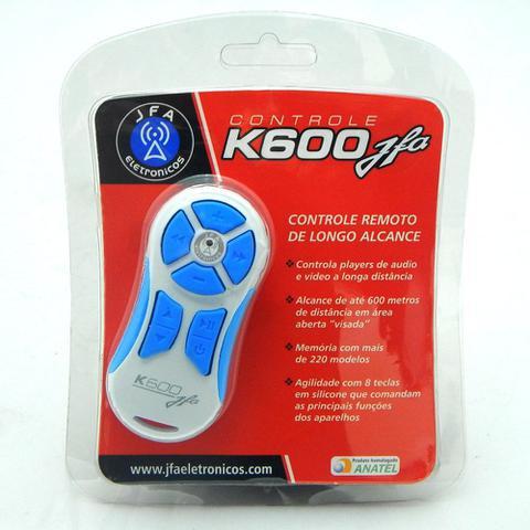 Imagem de Controle Longa Distância JFA K600 com Central - Branco/Azul