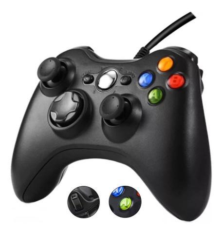 Imagem de Controle Manete Joystick Para Pc Xbox 360 Tv Com Fio Usb