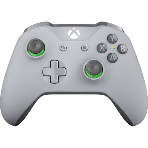 Imagem de Controle Manette Wireless Xbox One Cinza - Verde Microsoft