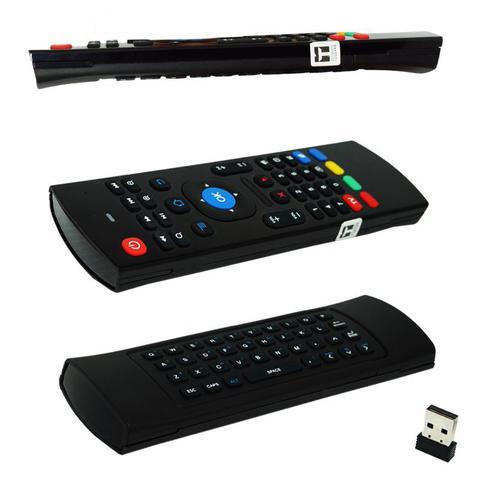 Imagem de Controle Mini Teclado Air Mouse Wireless Sem Fio Android Pc Tv MX3 MX-3A Preto