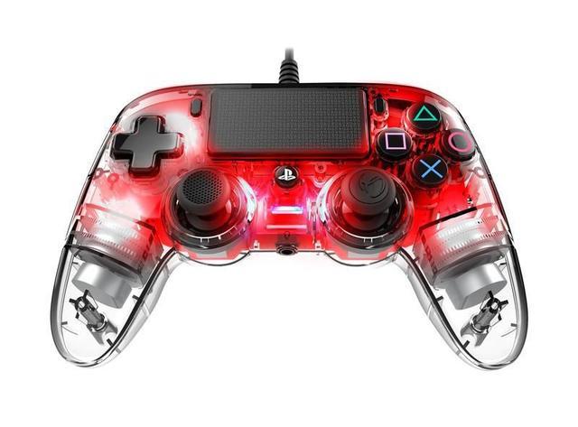 Imagem de Controle Nacon Wired Illuminated Compact Controller Red (Com fio, Iluminado, Vermelho) - PS4 e PC