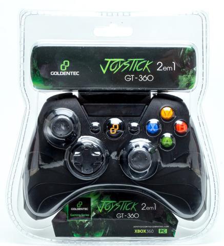 Imagem de Controle para Xbox 360 e PC Dual Shock Goldentec GT-360