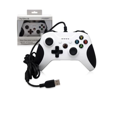 Imagem de Controle Para Xbox One E Pc Com Fio Gamepad Manete Joystick Anúncio com variação