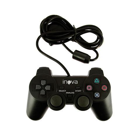 Imagem de Controle PS2 Com Vibração Simples e Direção Analógica CON-8198 - Inova