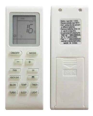 Imagem de Controle Remoto Ar Condicionado Split Compatível Gree YB1F2