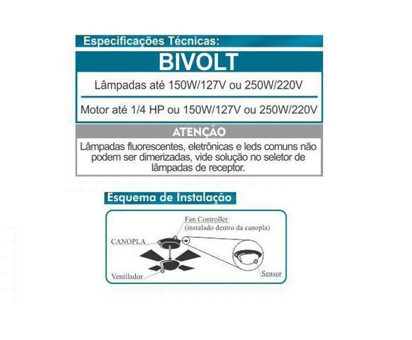 Imagem de Controle Remoto Inteligente p/ Ventilador de Teto