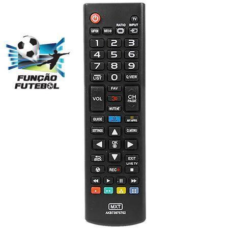 Imagem de Controle remoto para tv lg led smart 3d akb73975702 com função my apps e futebol