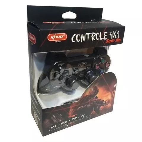 Imagem de Controle sem fio 4x1 para PS1,PS2,PS3,PC Knup Kp 5423