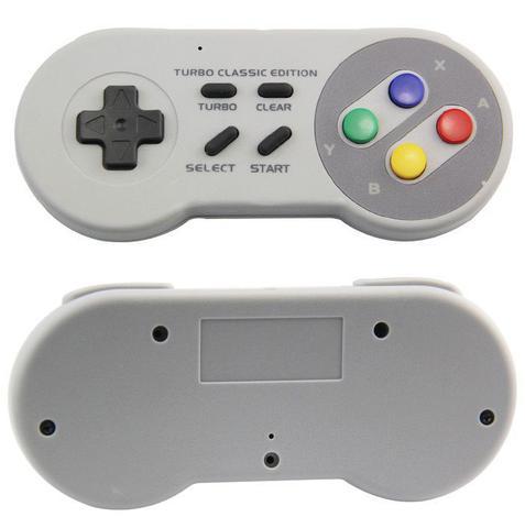 Imagem de Controle Sem Fio Turbo Classic Mini Nintendo Nes Snes Wii PC