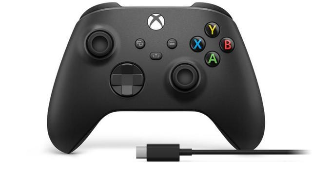 Imagem de Controle Sem Fio Xbox Series XS Carbon Black Com Cabo Usb-C