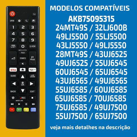 Imagem de Controle Smart Tv Lg 4k Nova Led Ultra Hd Netflix Lcd AKB75095315 Vc-A8204