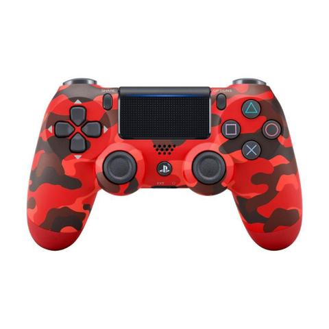 Imagem de Controle Sony Dualshock 4 Red Camouflage sem fio (Com led frontal) - PS4