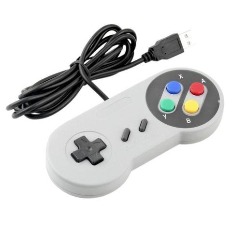 Imagem de Controle Super Nintendo Usb Botões Coloridos
