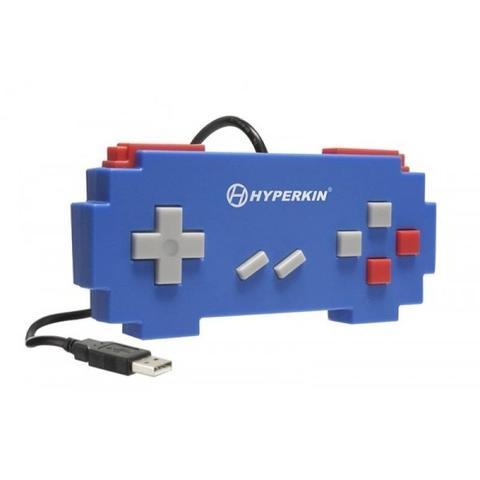 Imagem de Controle USB Hyperkin Pixel Art Super Famicom Azul com fio - PC e Mac