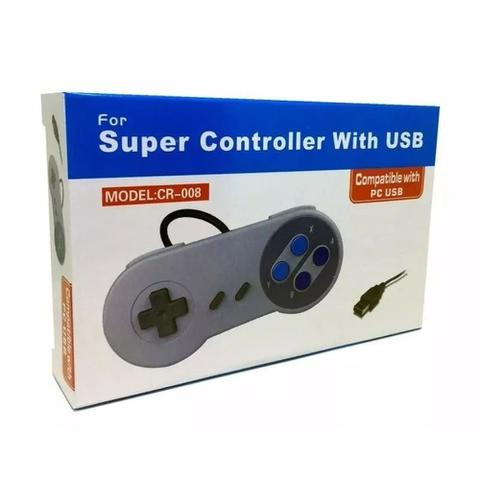 Imagem de Controle Usb Super Nintendo Snes Joystick Windows Mac Linux