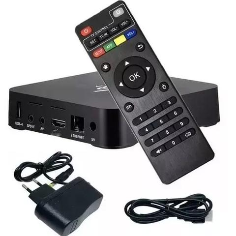 Imagem de Conversor Box Mxq Pro Converte Em Smart Tv Hd 4k C/ Teclado