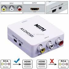 Imagem de Conversor HDMI X RCA MINI   1080P FULL HD
