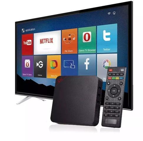 Imagem de Conversor Smart Box Tv Android 8.1 3Gb Ram 16gb + Teclado Iluminado