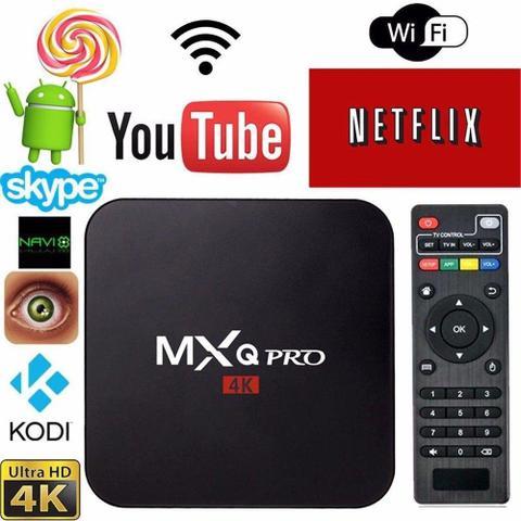 Imagem de Conversor Smart Tv MXQ PRO 4k Transforma Sua Tv Em Smart Tv Netflix Youtube Internet mk