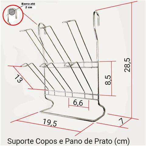 Imagem de Cook Home 4504 Cozinha Suspensa Porta Detergente Suporte Copos Aço Cromado Arthi