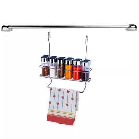 Imagem de Cook Home 4509 Cozinha Porta Condimentos Pano de Pratos Barra 45 cm Aço Cromado Arthi