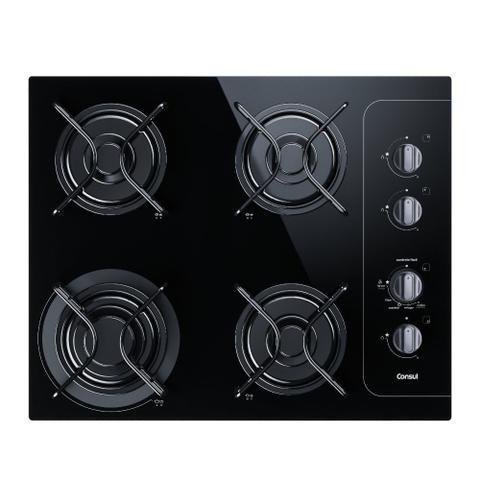 Imagem de Cooktop 4 bocas Consul com controle fácil e acendimento automático