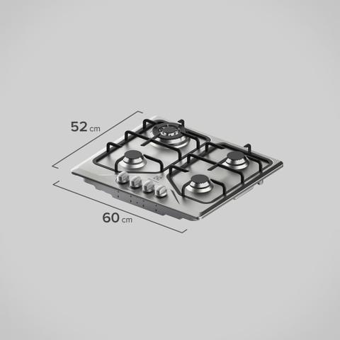 Imagem de Cooktop 4 bocas cor Inox a Gás Electrolux (GT60X)