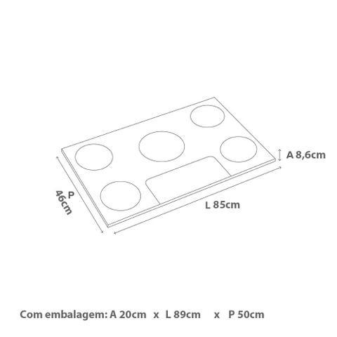 Imagem de Cooktop 5 bocas Brastemp com quadrichama e acendimento automático