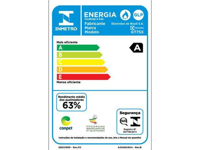 Imagem de Cooktop 5 Bocas Electrolux a Gás GLP