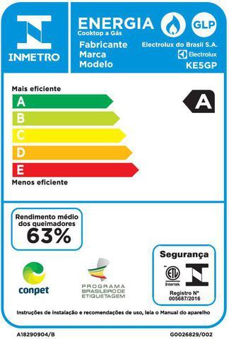 Imagem de Cooktop a Gás 5 Bocas  Electrolux (KE5GP)