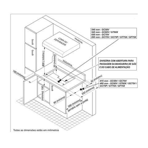 Imagem de Cooktop a Gás 5 Queimadores Electrolux GT75X Tripla Chama Inox Bivolt 23755DBI089