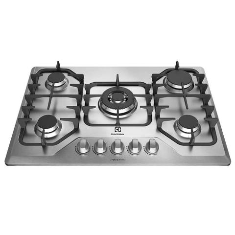 Imagem de Cooktop a Gás 5 Queimadores Inox GF75X  Electrolux