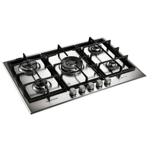 Imagem de Cooktop a Gás Brastemp Gourmand 5 Queimadores Inox 75Cm 220V BDK75DRBNA