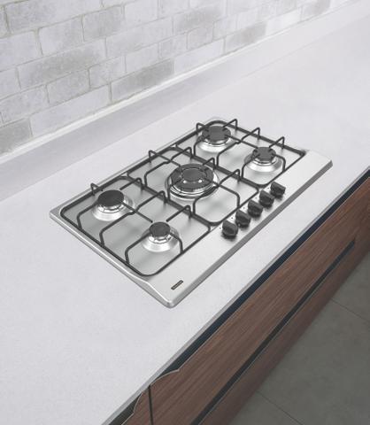 Imagem de Cooktop a Gás Tramontina New Penta Aço Inox + Aço Carbono BIV