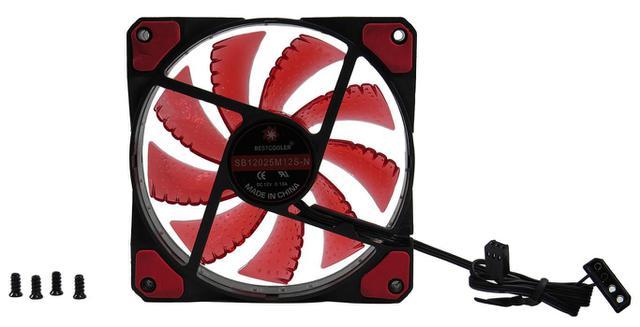 Imagem de Cooler Fan Ventilador p/ Gabinete 120mm 15 Led Neon Vermelho