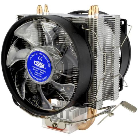 Imagem de Cooler Fans Game Duplo Com 15 Leds Para Cpu Azul Dx-9115d Dex