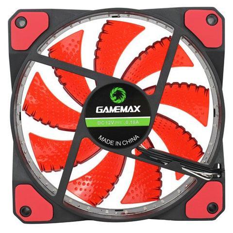 Imagem de Cooler Gabinete PC Gamer 120mm LED Vermelho GF12R Gamemax