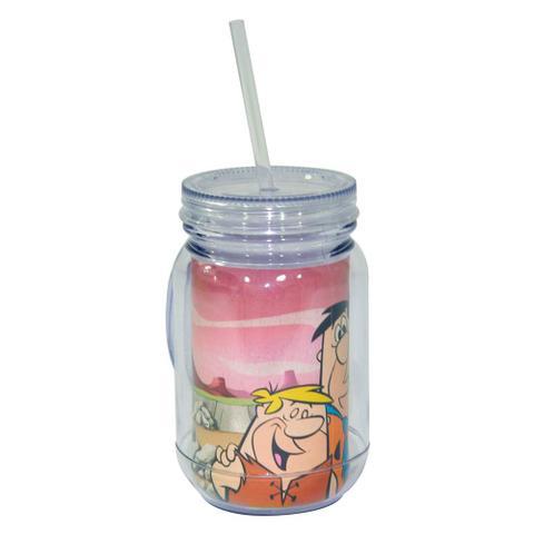 Imagem de Copo Jarra de Acrílico - Hanna-Barbera - Flintstones - Fred e Barney - Colorido - Metrópole