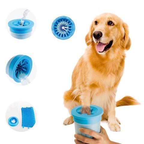 Imagem de Copo Limpa Limpador de Patas Patinhas Cachorro Cão Pet Animal