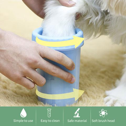 Imagem de Copo Limpador Limpa Patas Patinhas De Cachorro Cão Pet
