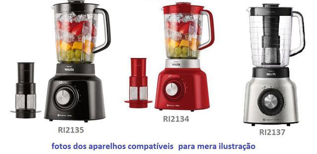 Imagem de Copo Liquidificador Philips Walita Pro Blend Ri2134 RI2135 Ri2137 Vermelho