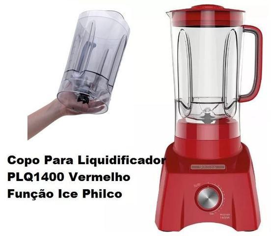 Imagem de Copo Original P/ Liquidificador Philco Plq1400 Vermelho