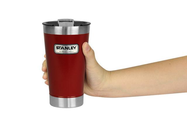 Imagem de Copo Térmico De Cerveja Stanley 473 ml Com Tampa Crimson