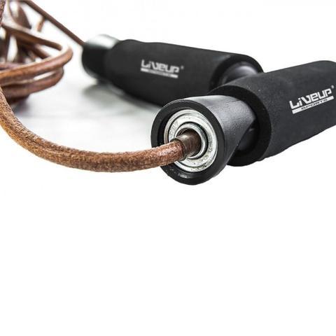 Imagem de Corda de Pular em Couro para Exercicios com Rolamento 2,90m Liveup