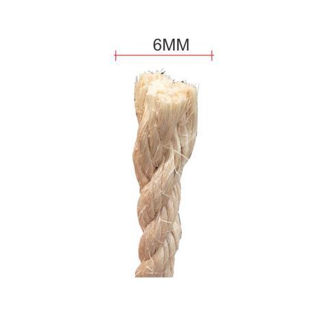 Imagem de Corda de Sisal Elastobor Natural Biodegradavel 6mm