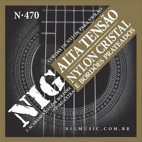 Imagem de Corda Para Violão Nig Nylon Tensão Alta N-470