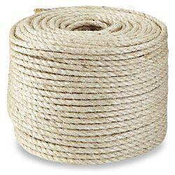 Imagem de Corda Sisal 8mm x 100 metros - SISALSUL - Barbante fibra natural Artesanato Macramê Arranhadores